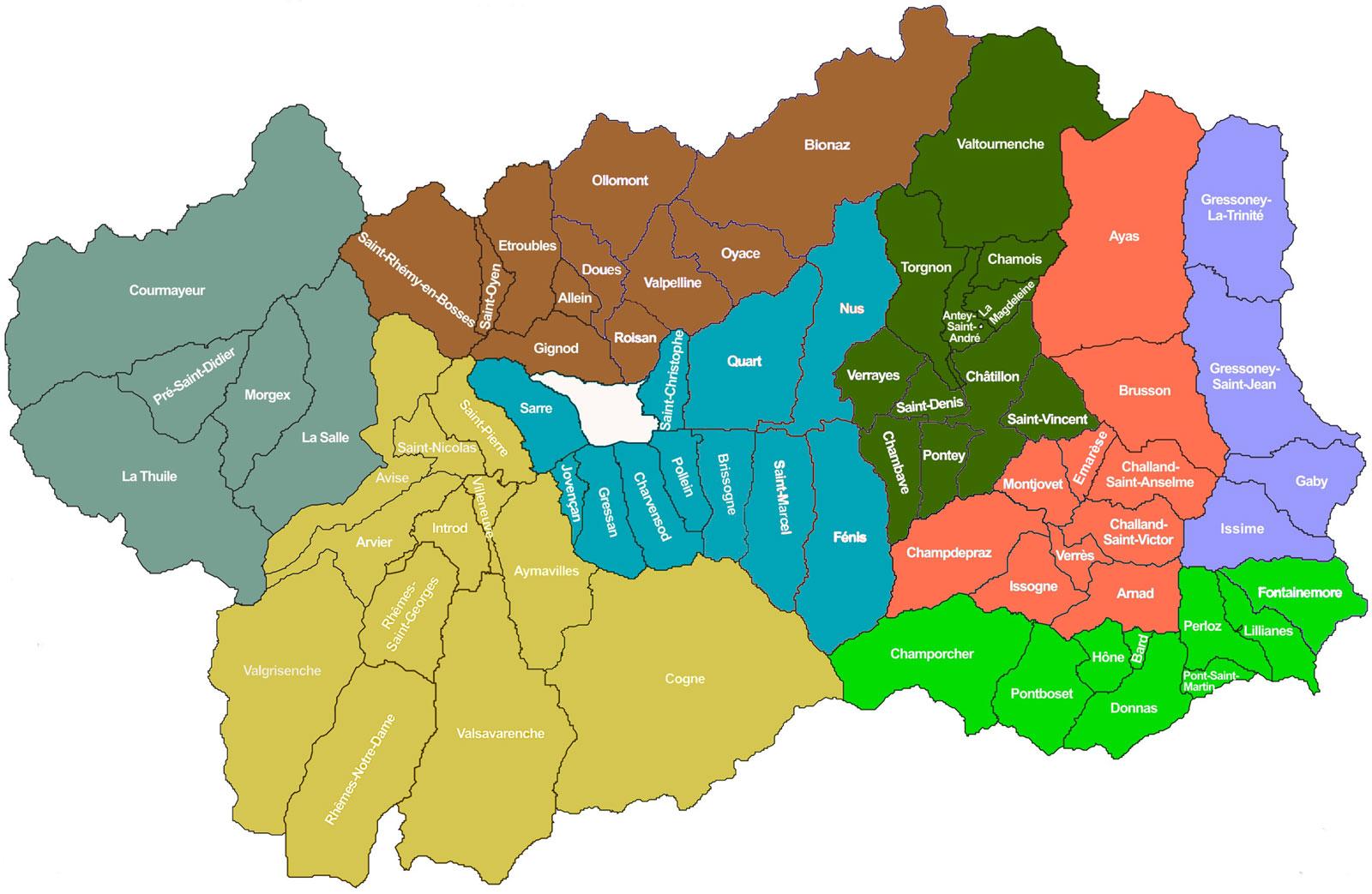 Cartina Valle D Aosta Dettagliata.Il Territorio Gal