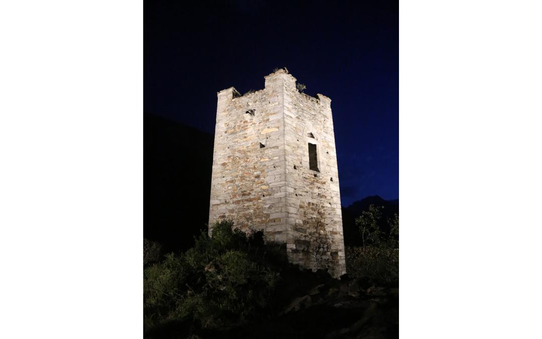 La torre di Pramotton nel comune di Donnas