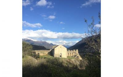 Il complesso di Châtel Argent nel comune di Villeneuve